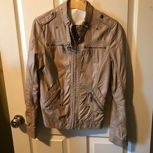 EUC Faux Leather Moto Jacket